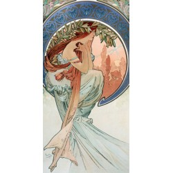 """Mucha""""Poetry""""-Classical Author's Fine Art Picture for Home Decor"""