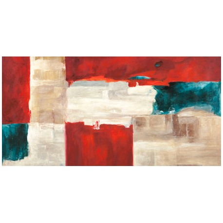 Ruggero Falcone Segment Quadro Astratto con Pennellate in Bianco e Nero, Stampa Fine Art su Tela Canvas