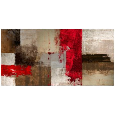 Ruggero Falcone, Attitude Quadro Astratto con Pennellate in Bianco e Nero, Stampa Fine Art su Tela Canvas
