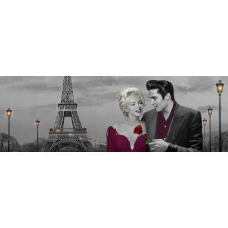 """Chris Consani""""Paris Sunset"""" Stampa d'Autore con Marilyn Monroe ed Elvis Presley a Parigi"""
