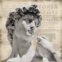 """Jeffries""""Renaissance 2""""Quadro Moderno con Statua rinascimentale su Canvas di Cotone"""