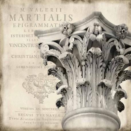 """Olivier Jeffries""""Renaissance 1""""Quadro Pronto in Stile PostModerno con Capitello Corinzio"""