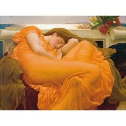 """Leighton""""Flaming June"""". Stampa Museale Originale ad Alta Risoluzione su Supporti e Misure a Scelta"""