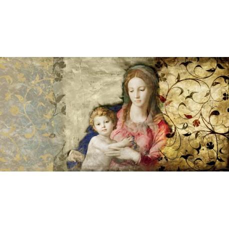 """Simon Roux """"Virgin Mary"""" - Capezzale Moderno d'Autore su Canvas da Artigianato Veneziano"""