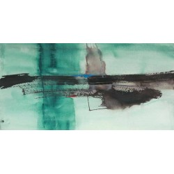 "Oppenheimer""Detached 1"" Home Decor Abstract Print from the famous painter for Living or Bedroom"