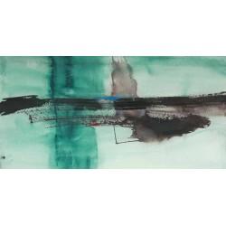 """Oppenheimer""""Detached 1"""" quadri moderni verde e bianco - astratto pronto da appenere con misure a scelta"""