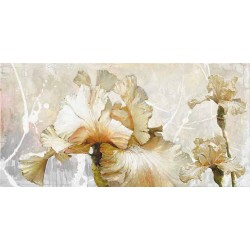 """Sestillo""""Vanilla Iris 1"""" quadri moderni con fiori astratti pronti da appenere con misure a scelta"""