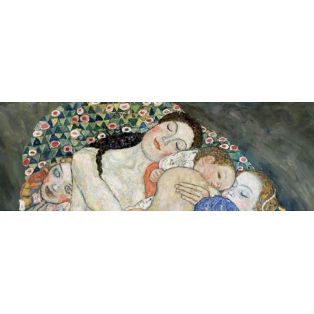 "Gustav Klimt ""Death and Life (detail)"" - Classic Art Picture for Home Decor Design"