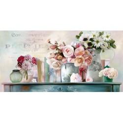 """Robinson""""Paris Petit"""" quadri moderni floreali per Soggiorno o Camera da letto-misure varie"""