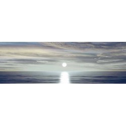 "Maggie Olsen""Sunlit Horizon 2""- Rainbow Sunset custom wrapped Giclée Canvas for Living or Bedroom"