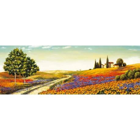 """LeBlanc""""Morning in the Valley""""Quadri moderni colorati con Toscana, misure a scelta"""
