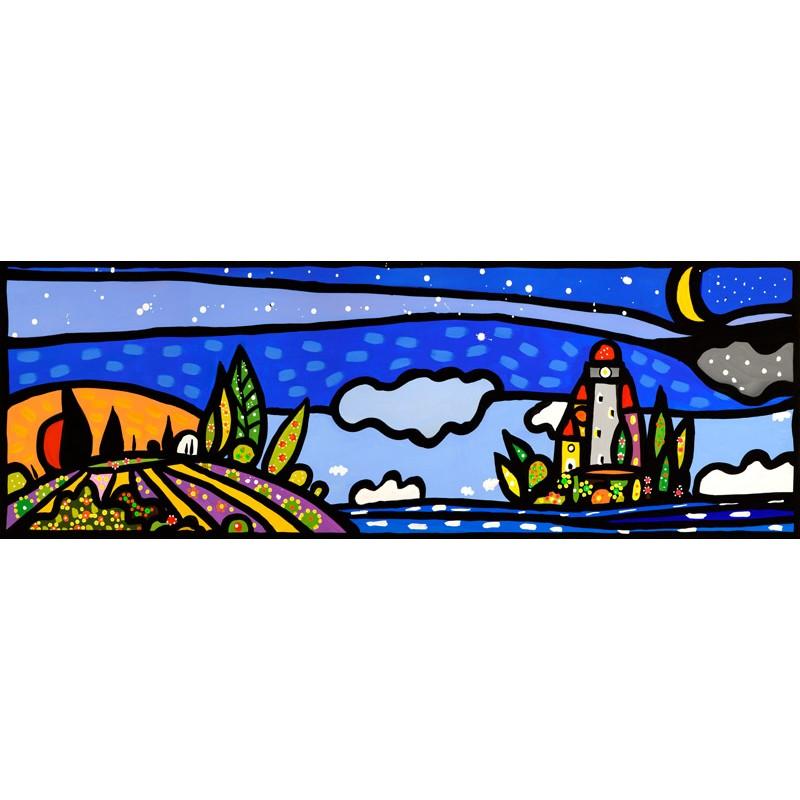 Isola e luna,Wallas, 150x50 cm o altro. Art Canvas o Poster o Quadro ...