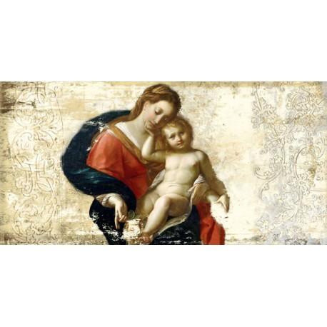 """Simon Roux """"Madonna con bambino"""" - Capezzale Moderno d'Autore su Canvas da Artigianato Veneziano"""