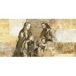 """Simon Roux """"Nativity"""" - Capezzale Moderno d'Autore su Canvas da Artigianato Veneziano"""