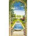 "Mannarini""Garden with nymphaeum""-Amazing view from porch, Ready to Hang Picture, 50x100cm or more, by choice"