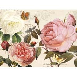 """Donovan""""Botanical Sonata 1"""",quadri moderni con fiori 150x100 e altre misure"""