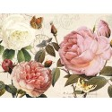 """Donovan""""Botanical Sonata 1""""-Shabby-New Country style Stretched Canvas with roses"""