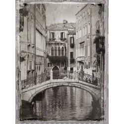 """Jackson""""Venice Romance 2""""quadri moderni foto Venezia in bianco e nero"""