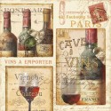 """Pela Studio""""French Cellar 1"""" .Author's stretched canvas print on 3cm high wooden frame with wines image"""