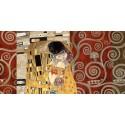 Gustav Klimt-Il Bacio (dettaglio) Stampa Fine Art su Canvas ad alta risoluzione in Misure Multiple per Soggiorno o Camera