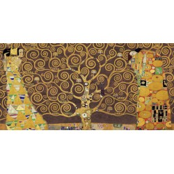 Gustav Klimt-Tree of Life varies. brown Fine Art Print on High Resolution Canvas in Multiple Measures