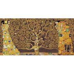 Gustav Klimt-Albero della vita variaz. marrone Stampa Fine Art su Canvas ad alta risoluzione in Misure Multiple