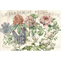 "Schlabach""Le Jardin Printemps"",Shabby-New Country style Stretched Canvas with roses"