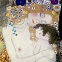 Gustav Klimt-Le Tre Età della Donna (dettaglio). Stampa Fine Art su Canvas Misure Multiple per Soggiorno o Camera