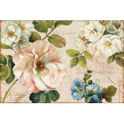 """Lisa Audit""""Les Jardin 1""""canvas moderni con fiori provenzali e rose selvagge 120 x 80 cm o altre misure"""