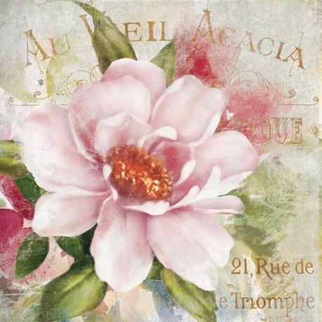 "Robinson""Parfum de Paris 1""quadri moderni rose 100x100 o altre misure pronti da appendere"