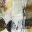 "Davies""Abstract Pebble 1"". Modern ReadyToHang Art Canvas, 3cm. High framed"