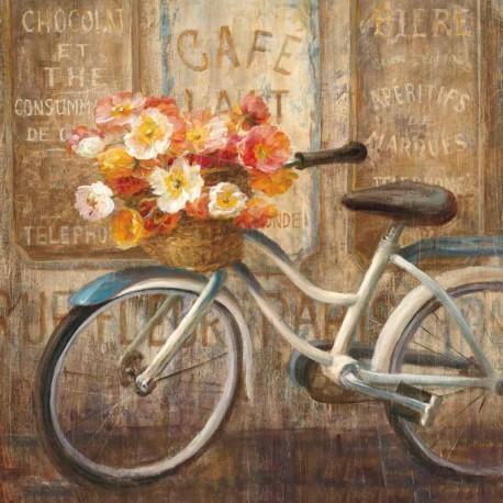 """Nai""""Meet me at Le Cafè 2""""quadri moderni romantici ,canvas intelaiato 70x70 o altre misure"""