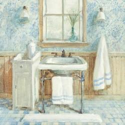 """Nai""""Victorian Sink 1""""quadri moderni bagno, canvas intelaiato 70x70 o altre misure"""