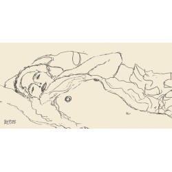 "Klimt patterns ""Reclined Woman"" - Quadro per Camera da Letto in Misure Multiple"