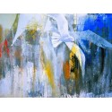 """Enzo Archetti""""Il Volo""""figure/abstract ready stretched Art Picture with seagulls"""