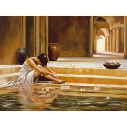 """Ron Di Scenza""""Healing Water"""" quadri moderni donne per camera da letto, misure a scelta"""