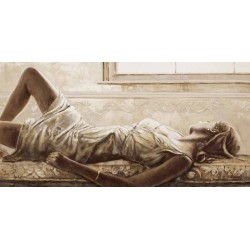 "Gualtiero Bassi Scala""Dolce Pensare""-Woman figure HQ Picture for Living or Bedroom"