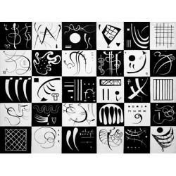 """Wassily Kandinsky-""""Trente"""" Stampa d'Autore Originale Fine Art per Soggiorno, Ufficio o altro"""