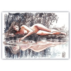 "Milo Manara""Acquerello"" comic pictures with Certificate of Authenticity"