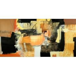 Maurizio Piovan - La seconda estate - Quadro Astratto per Soggiorno o altro in Bianco e Nero, Stampa Fine Art su Tela Canvas