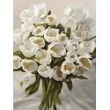 Leonardo Sanna,Bouquet Blanc - Home Decor Best Seller with magnificent white tulips bouquet