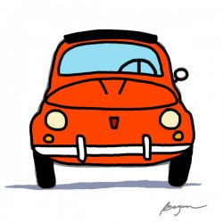 "Carlos Beyon""500 Smiles"". FIAT 500 inspired Author's picture for Design's HQ Wall Decor"