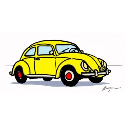 "Carlos Beyon""Fantasticar"". VW beetle' inspired Author's picture for Design's HQ Wall Decor"