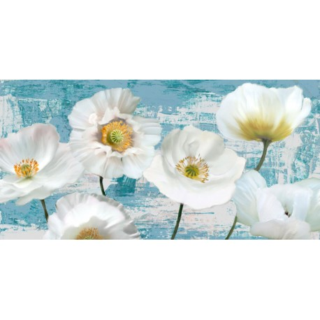 "Leonardo Sanna""Washed Poppies""awesome white poppies art picture for Home Decor"
