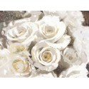 """Nan""""Gilded Roses 2"""",white roses picture,100x150cm or other sizes Stretched Canvas"""