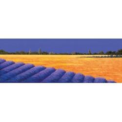 """Antonio Capurso """"Distesa d'Estate"""" quadri moderni colorati paesaggio, misure a scelta"""