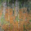 Gustav Klimt -Foresta di betulle Stampa Fine Art su Canvas Misure Multiple per Soggiorno o Camera