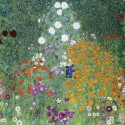 Gustav Klimt - Giardino Fiorito Stampa Fine Art su Canvas Misure Multiple per Soggiorno o Camera
