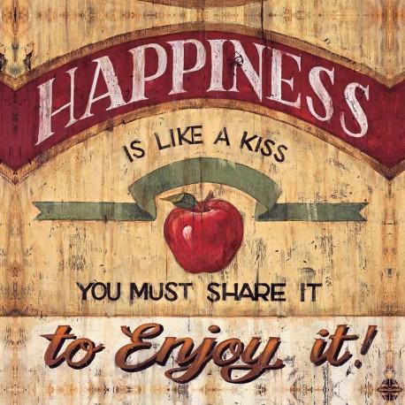 """Mc Rae""""Happiness""""quadri pubblicità vintage con mela 70x70 e altre misure"""