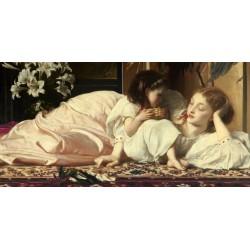 """Leighton""""Mother and Child"""" quadro capezzale classico HQ museale su Supporti e Misure a Scelta"""